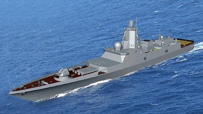Future fighter ... A concept illustration of a potential Russian destroyer design. Source: Supplied