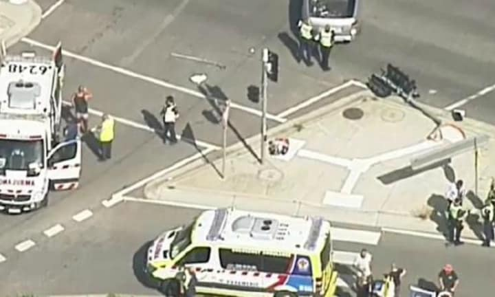 An adult and seven children injured in Melbourne hit and run incident