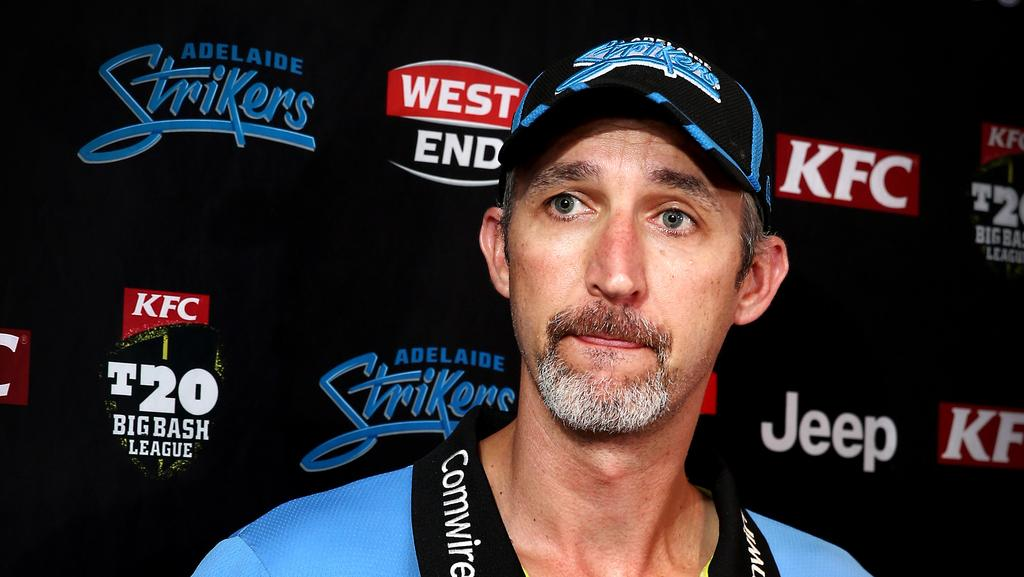 Strikers coach Jason Gillespie said the opportunity to bring fixtures to regional venues such as Alice Springs was vital to help growing the game of cricket nationally. Picture: Mike Burton