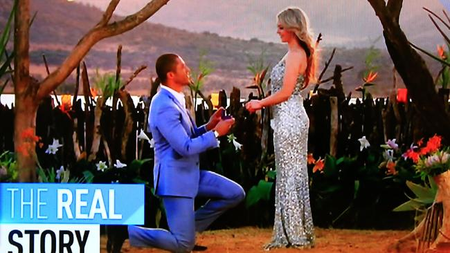 Blake Garvey proposes to Sam during the finale of The Bachelor.