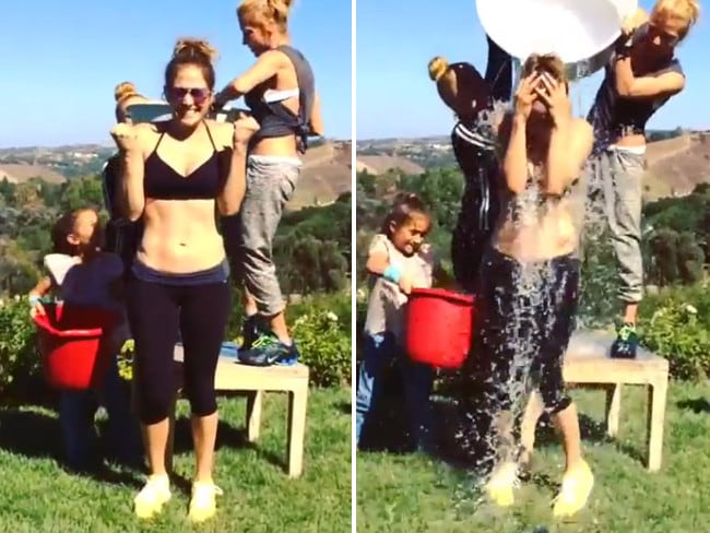 "Singer Jennifer Lopez, ""After workout #ALSicebucketchallenge Thanks @cristiano @tracyanderson oh and @pitbull @thenewclassic @leahremini you've been challenged!""... VIEW VIDEO Picture: Instagram"