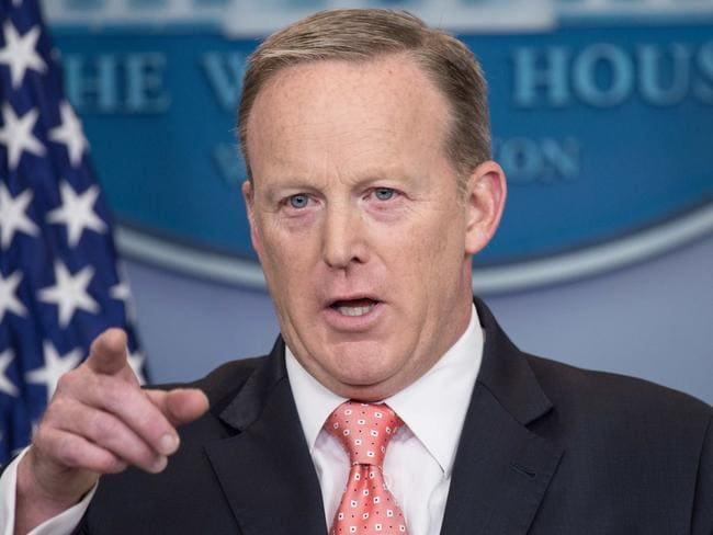 Donald Trump would send out his spokesman, former press secretary Sean Spicer, to settle scores. Picture: Nicholas Kamm / AFP