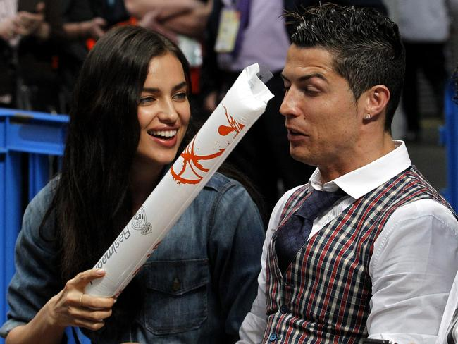 Exes ... Irina Shayk with boyfriend of five years Cristiano Ronaldo. Picture: Splash News