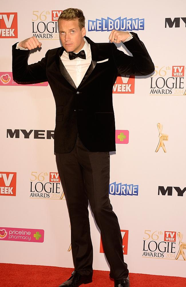 Jules Lund during the Red Carpet Arrivals ahead of the 56th TV Week Logie Awards 2014 held at Crown Casino on Sunday, April 27, 2014 in Melbourne, Australia. Picture: Jason Edwards