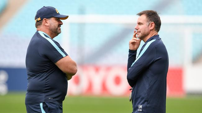 Head Coach Ange Postecoglou and Assistant Coach Ante Milicic at training.