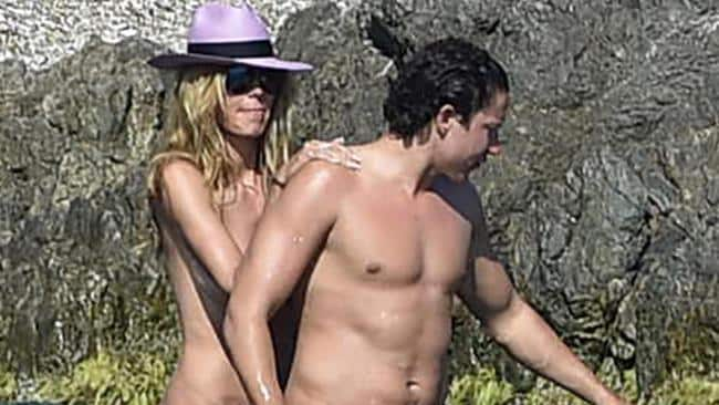 Heidi Klum and her boyfriend Vito Schnabel enjoy a sunny afternoon beachside in Saint-Tropez.