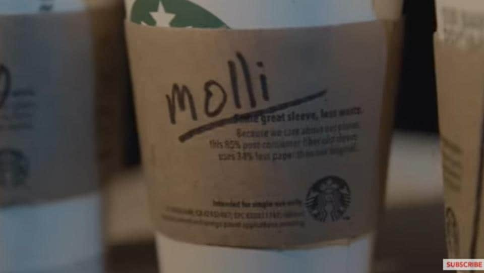 Are Starbucks misspelling your name on the cup on purpose. Picture: YouTube