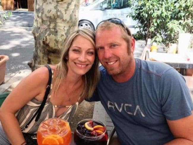 California man Jared Tucker and his wife Heidi Nunez took this photo an hour before he was killed in Barcelona. Picture: Facebook