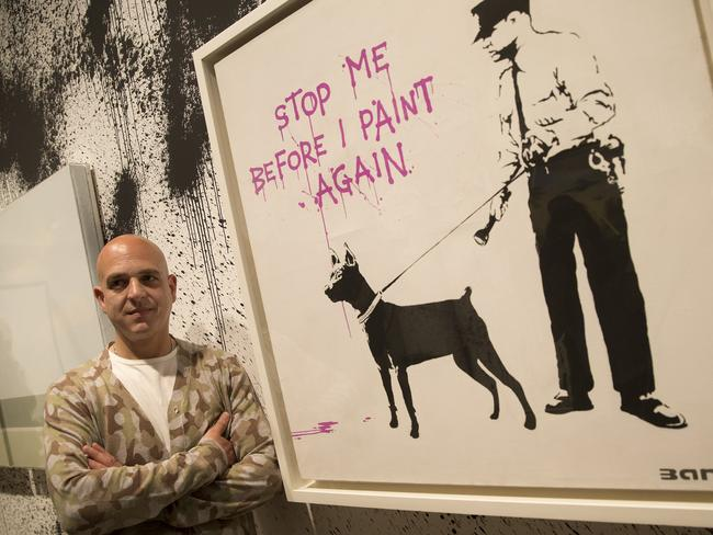 Collector ... curator Steve Lazarides admits Banksy would hate the Sotheby's auction of his work. Picture: Getty
