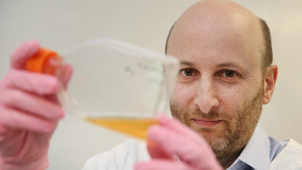 Associate Professor David Zielgler at the Children's Cancer Institute believes he has found a cure to a deadly brain cancer. Picture: Danny Aarons