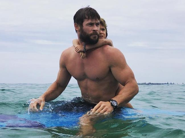 Chris Hemsworth is seriously ripped, too. Picture: Instagram for BW Magazine