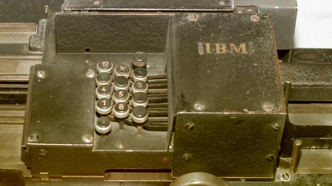 The IBM card sorting machine on display at the United States Holocaust Museum. Picture: William Philpott/Liaison