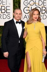 Jennifer Lopez and Casper Smart attend the 73rd Annual Golden Globe Awards held at the Beverly Hilton Hotel on January 10, 2016 in Beverly Hills, California. Picture: Jason Merritt/Getty Images