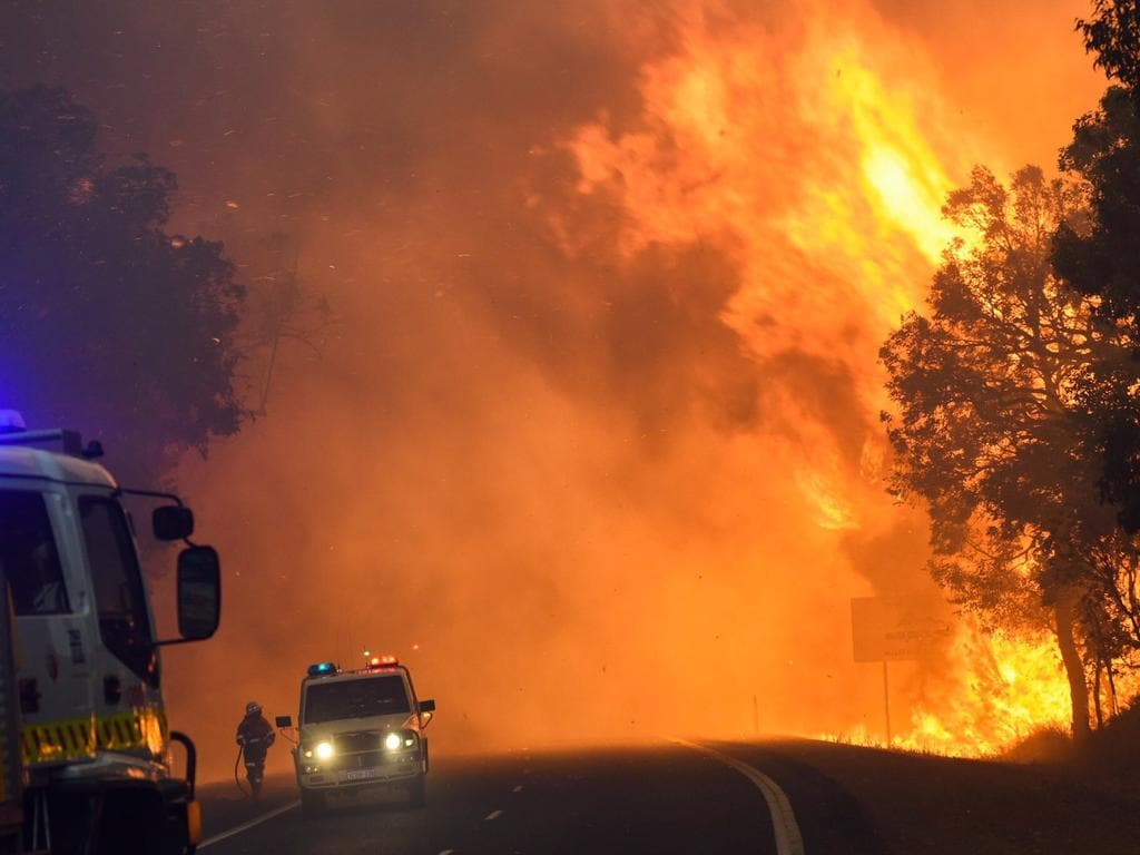 A supplied image obtained Saturday, Jan. 9, 2015 of a bushfire at Yarloop, 120 km south of Perth in West Australia. A major bushfire in western Australia destroyed hundreds of homes as it tore through a small rural town south of Perth, emergency officials said on Friday. (AAP Image/Department of Fire and Emergency Services)