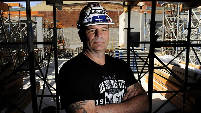 John Setka, Union Official for the CFMEU. Picture: Jon Hargest