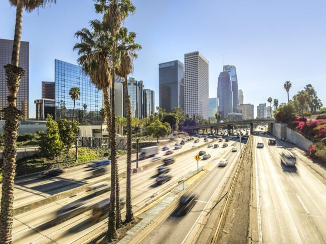 The LA skyline won't be the same after the launch of Uber Air. Picture: iStock/Tim Richards
