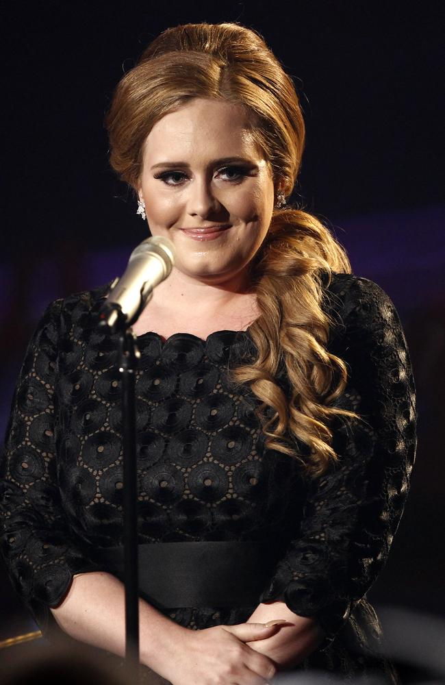 Adele, back in 2011. Picture: AP