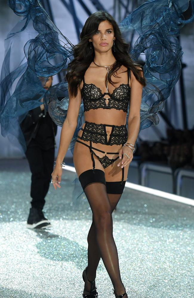 Sampaio walks the runway at last year's Victoria's Secret Fashion Show in Paris. Picture: Dimitrios Kambouris/Getty Images for Victoria's Secret