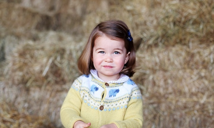 The photograph was taken in April by The Duchess at their home in Norfolk to mark Princess' second birthday. (Photo by HRH The Duchess of Cambridge via Getty Images) NEWS EDITORIAL USE ONLY. NO COMMERCIAL USE (including any use in merchandising, advertising or any other non-editorial use including, for example, calendars, books and supplements). This photograph is provided to you strictly on condition that you will make no charge for the supply, release or publication of it and that these conditions and restrictions will apply (and that you will pass these on) to any organisation to whom you supply it. All other requests for use should be directed to the Press Office at Kensington Palace in writing. NOTE TO EDITORS: This handout photo may only be used in for editorial reporting purposes for the contemporaneous illustration of events, things or the people in the image or facts mentioned in the caption. Reuse of the picture may require further permission from the copyright holder.