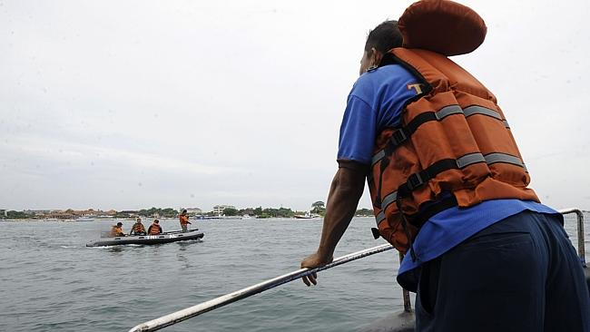 Missing ... the search for Japanese divers from the island of Nusa Lembongan, just east of Bali. Picture: AFP