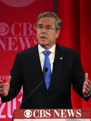 Donald Trump blasted candidate Jeb Bush's brother, George W Bush, during the debate. Picture: Spencer Platt/Getty Images/AFP