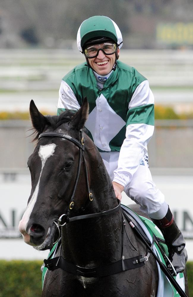 Winners are grinners as Joshua Parr returns to scale. Picture: Simon Bullard