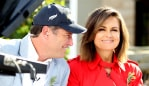 Lisa Wilkinson and Karl Stefanovicl on the set of Today for Anzac day at the War Veterans village Collaroy