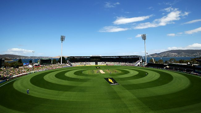 A general view of play during Australia's clash with Sri Lanka in Hobart. Picture: Matt King