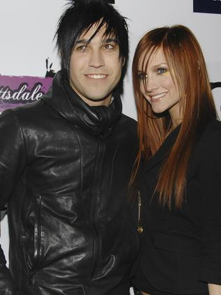 Ashlee Simpson with ex-husband Pete Wentz. Picture: Evan Agostini