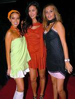 <p>2 Day FM Star Party at W. Tozzi Sisters with Megan Gale in 2004.</p>