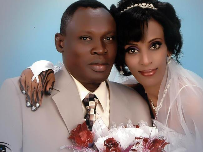 Fought for her freedom ... Daniel Wani with his wife Meriam Yehya Ibrahim, who was at one point sentenced to death for refusing to renounce her Christian faith. Picture: Gabriel Wani/Facebook