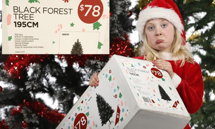 'That's really sad': Big W removes word 'Christmas' from fake trees