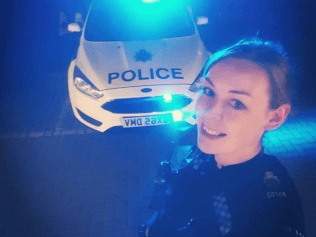 PC Claire Binksy appears in selfie that sparked sexist comments. Source: Facebook.