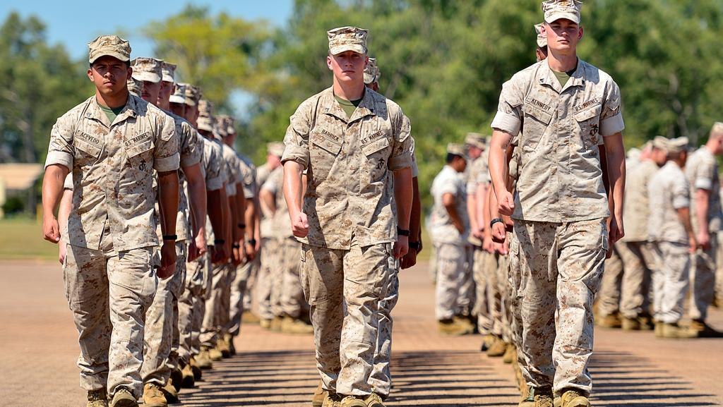<s1>  US Marines will be  </s1>marching into new accommodation at Robertson Barracks as part of a $2 billion spend.  <source></source>Picture: MICHAEL FRANCHI <source></source>