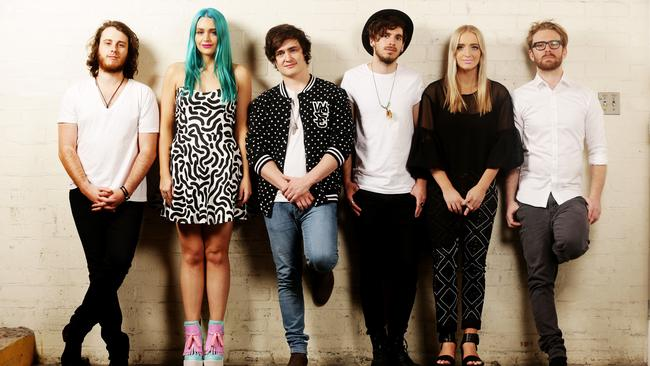 Help wanted ... Brisbane band Sheppard are taking part in the Bandwagon campaign. Picture: Mark Calleja