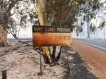 Fire crews battling the inferno threatening lives and homes in Waroona and Harvey. Photo: DFES