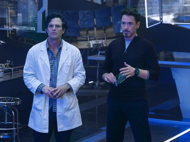 Avengers ... Bruce Banner/Hulk (Mark Ruffalo) and Tony Stark/Iron Man (Robert Downey Jr). Picture: Marvel