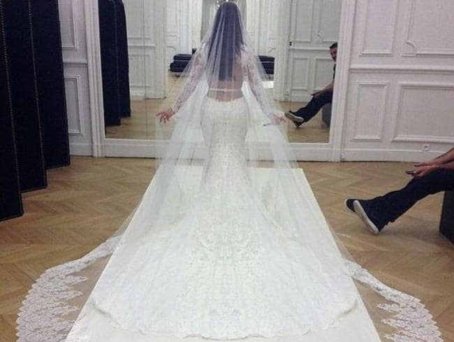The bride on her wedding day. Picture: Instagram/Kim Kardashian