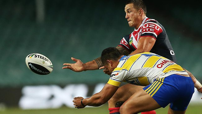 Sonny Bill Williams starred for the Roosters.