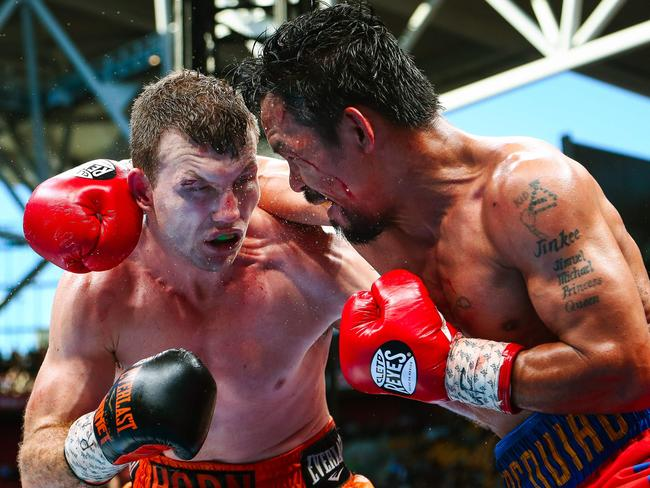 Jeff Horn during his win against Manny Pacquiao.