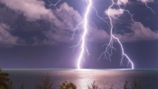 During the 'wet' season, the Australian tropics put on some amazing weather events, like this one. Picture: Cathryn Vasseleu.