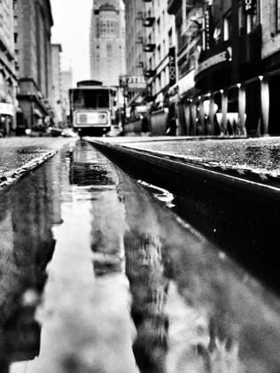 Low down ... a San Francisco cable car shot on the iPhone 6 on June 10, 2015. Picture: Rod Chester