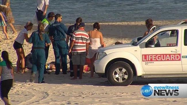 The scene of the incident on Monday. Picture: Channel 10