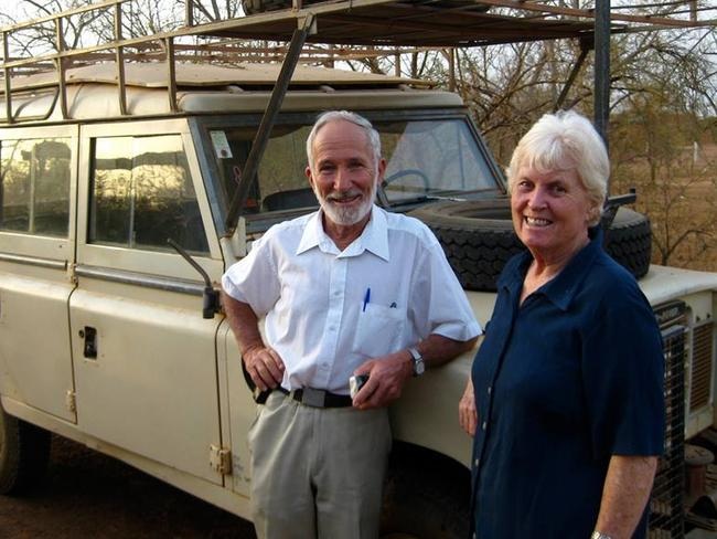 Humanitarians ... Australians Ken and Jocelyn Elliott have lived in Burkina Faso for more than 40 years. Picture: Facebook