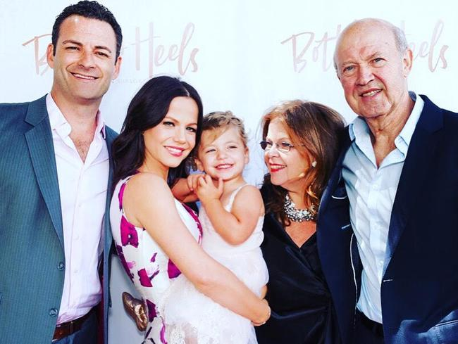 Tammin Sursok and her happy family today.