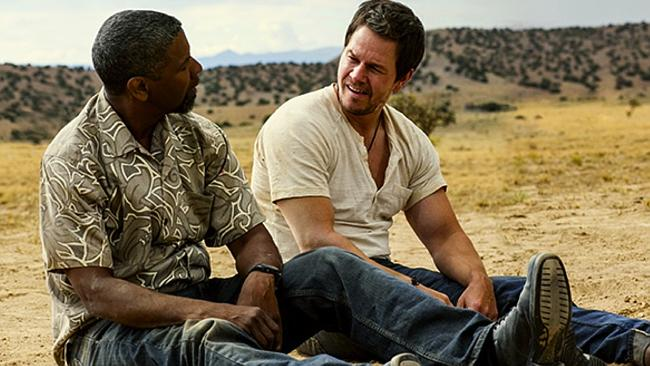 It's the banter that goes off with a bang ... Mark Wahlberg and Denzel Washington in
