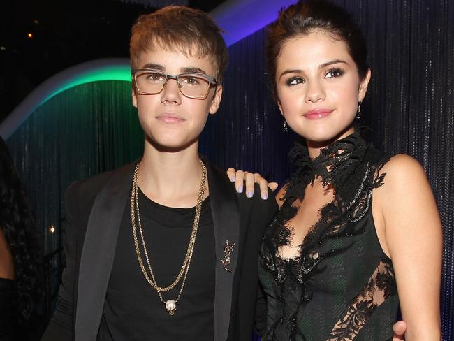 Justin Bieber and Selena Gomez have recently been seen hanging out again. Picture: Christopher Polk/Getty Images