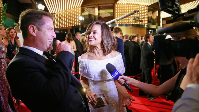 Karl Stefanovic and Lisa Wilkinson at Logie Awards in Melbourne. Photo: Scott Barbour/Getty Images.
