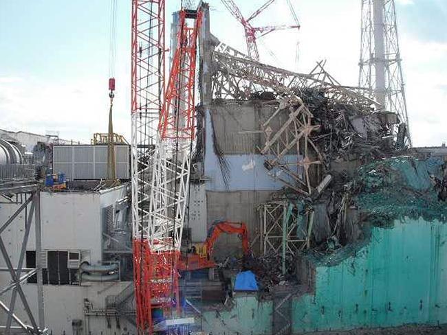 IDebris covers the No. 3 nuclear reactor at the tsunami-crippled Fukushima Dai-ichi nuclear power plant a year after the 2011 tsunami. (AP Photo/Tokyo Electric Power Co.)