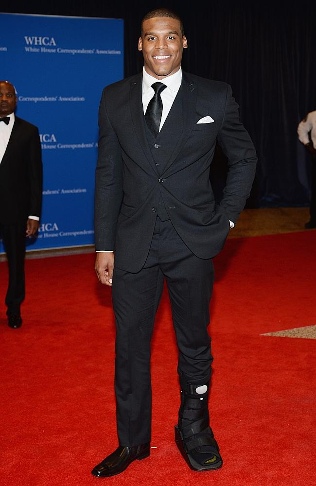 NFL player Cam Newton. Note to self: Start watching NFL. (Photo by Dimitrios Kambouris/Getty Images)